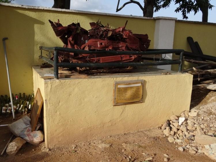 Monument voor slachtoffers van een aanslag van Boko Haram
