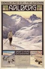 Affiche Arlberg door Gustav Jahn, 1907