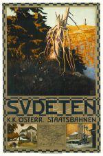 Affiche Sudeten door Otto Barth, ca. 1910