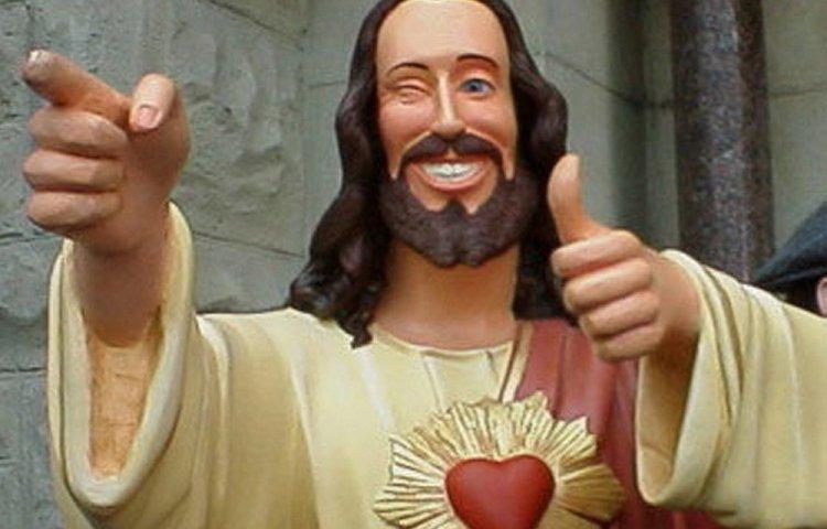 """""""Buddy Christ"""" (uit de speelfilm """"Dogma"""")"""