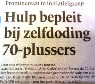 Krantenkop uit NRC Handelsblad (8 februari 2010)