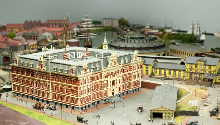 Modelbaan Amsterdam CS 1889 - Droogbak (Spoorwegmuseum)