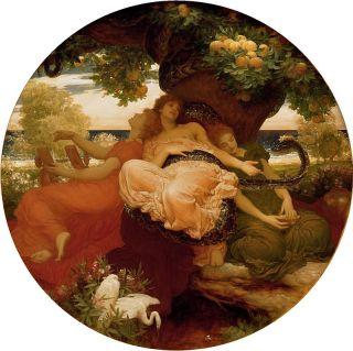 De Hesperiden en de draak Ladon bij de gouden appels - Frederic Leighton