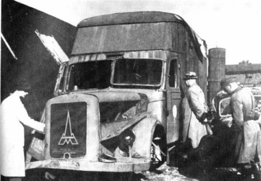Gaswagen in Chełmno (Kulmhof)