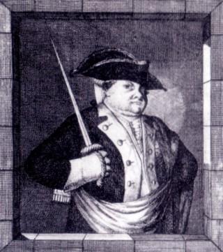 Karikatuur van de hertog van Brunswijk-Wolfenbuttel
