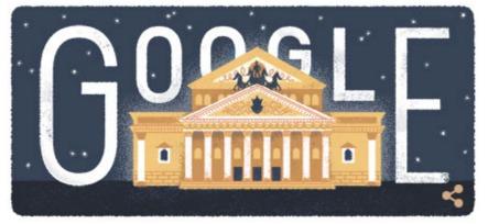 Bolsjojtheater - Google Doodle