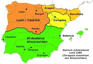 Iberisch schiereiland rond 1085