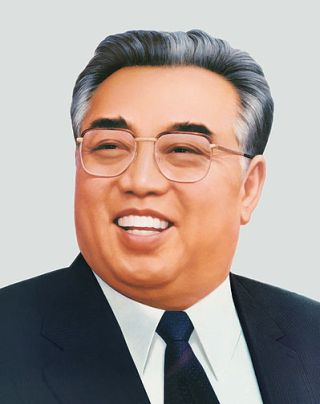 Kim Il-sung (1912-1994) werd na zijn dood benoemd tot 'eeuwigdurend president van Noord-Korea.