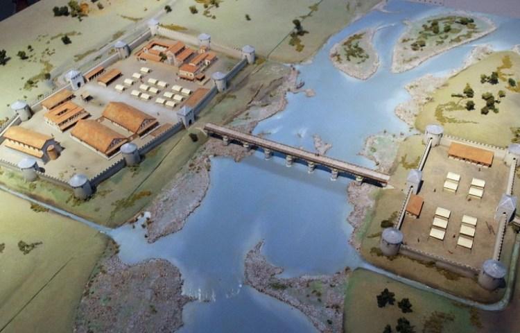 Maquette van het castellum van Maastricht - cc