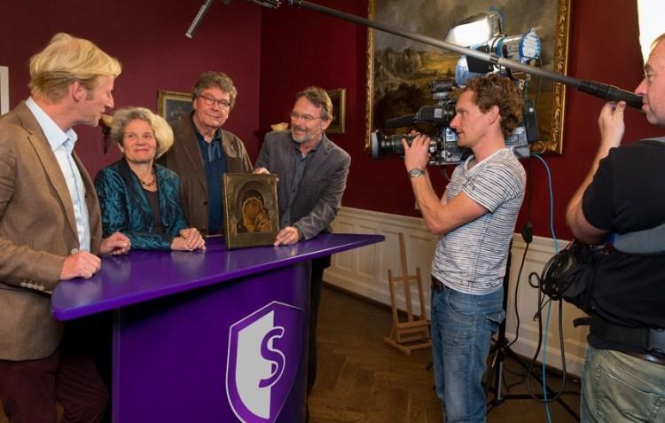 Opname van het televisieprogramma 'Schatgraven' (Omroep Gelderland)