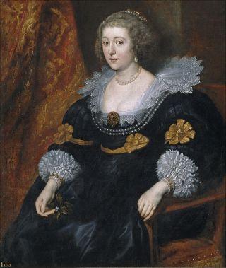 Portret van Amalia van Solms - Anthony van Dyck, 1631-32