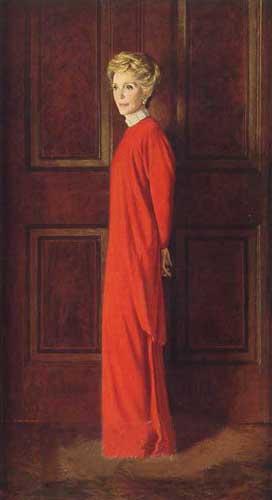 Portret van Nancy Reagan (cc - Aaron Shikler)