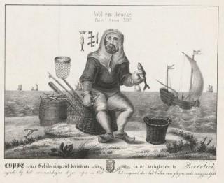 Willem Beukelszoon. (Kopie van een afbeelding in de kerk van Biervliet)