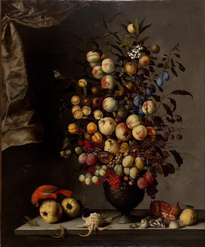Suermondt-Ludwig-Museum Balthasar von der Ast-Stilleven met vruchtenbouquet, papegaai en slakkenhuizen