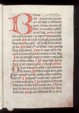 'Psalterium Benedictinum' [MMW 027 A 001, 1r.]