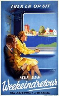 Affiche weekeindretour, Frans Mettes, 1939 (coll. Arjan den Boer)