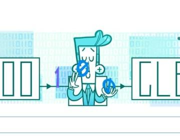 Claude Shannon Doodle Google jongleur