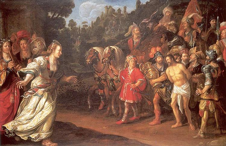 De Terugkeer van Jephta van Jacob Waben