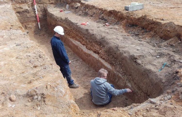 Deel Romeinse weg gevonden in Heerlen (Gemeente Heerlen)