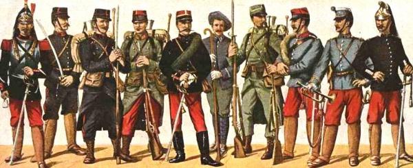 Franse uniformen tijdens de Eerste Wereldoorlog
