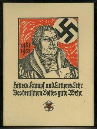 Vanwege zijn antisemitisme werd Luther regelmatig gebruikt in de nazi-propaganda. Bron: regencystamps