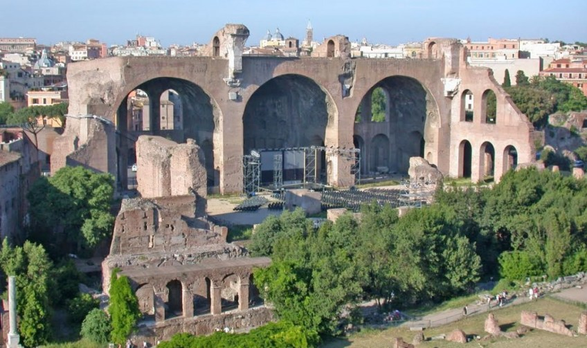 Basilica van Maxentius. Bron: Wikimedia