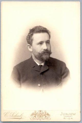 Carl Schultz, Foto van de Duitse arts en psychiater Emil Kraepelin, ca. 1884. (Bron: Wikipedia).