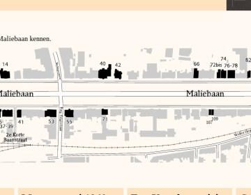 Website gemaakt over geschiedenis Maliebaan