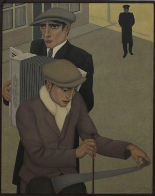 """Johan van Helle, """"Zingende zaag"""" (1934). Bron: boek / cc Stedelijk Museum Amsterdam"""