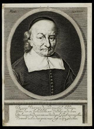 Joost van den Vondel, door Hendrik Bary, 1682. Bron: Wikimedia