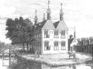 Kasteel Rijnwijk, tekening omstreeks 1650. Bron: www.geheugenvanzeist.nl