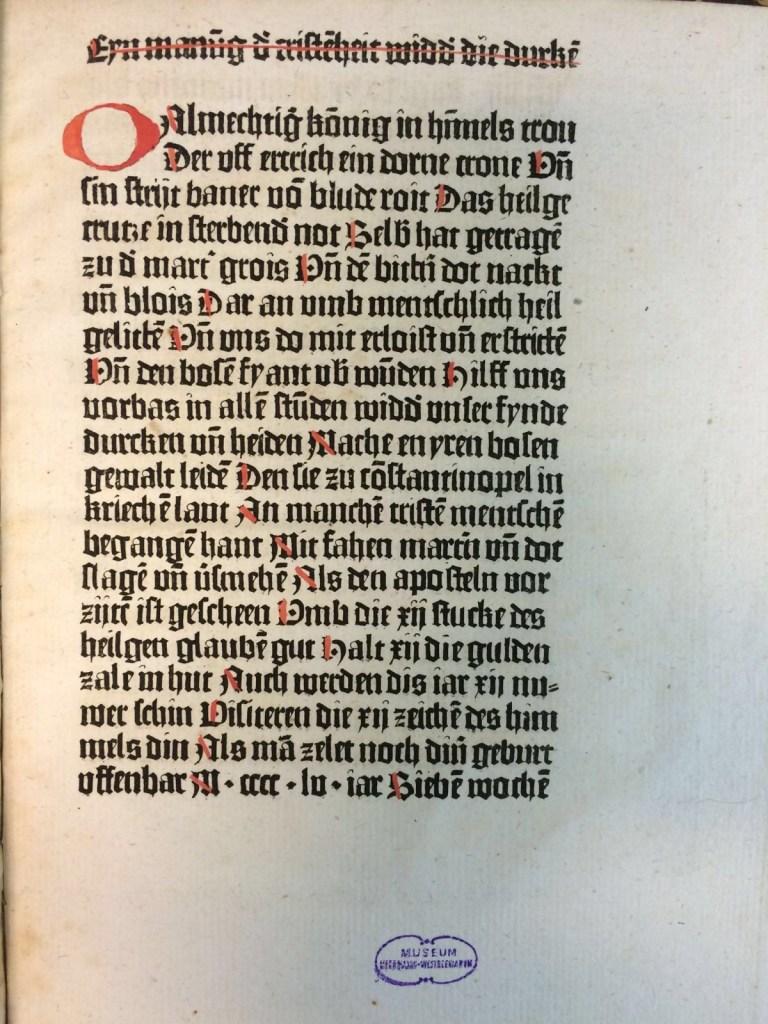 Een incunabel in steendruk: J. C. von Aretin, Ueber die frühesten universalhistorischen Folgen der Erfindung der Buchdruckerkunst , München, 1808.