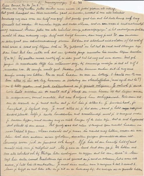 Brief Rie Hakker © Privé-archief Lodewijk de Zwart, Amsterdam