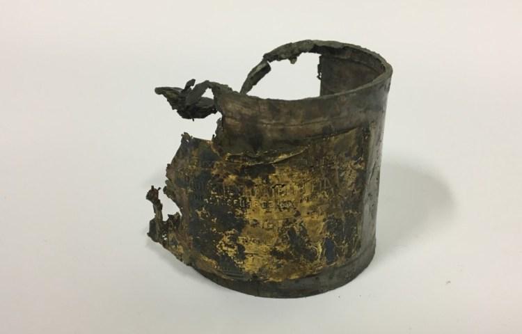 Blik schildpaddensoep uit 1860 gevonden in Delft (Archeologie Delft)