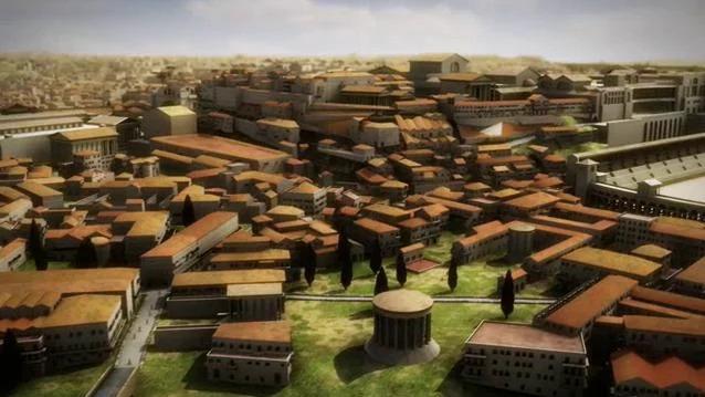 Het Rome van 320 na Christus - Animatie