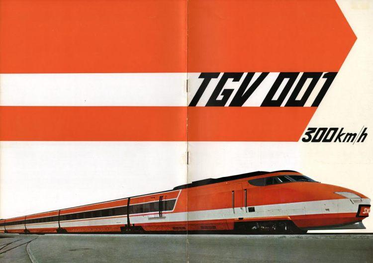 Brochure TGV 001, 1974   Alsthom (coll. Arjan den Boer)