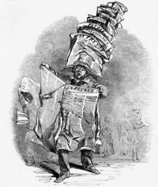 Revolutie 1848. Met de Februarirevolutie van 1848 explodeerde de drukpers in Parijs