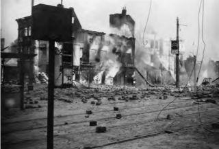 Oostzeedijk in Kralingen - Bombardement Rotterdam