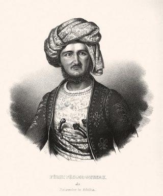 Pückler in orientaalse kledij (1838)