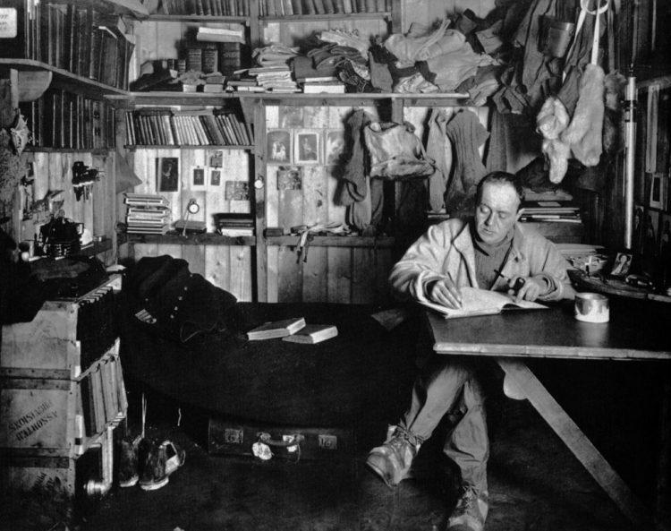 Robert Falcon Scott tijdens zijn laatste poolexpeditie