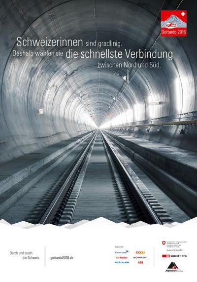 Affiche Door-en- door Zwitserland, Gottardo 2016