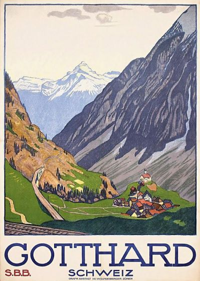 Affiche Gotthard, Emil Cardinaux, 1914