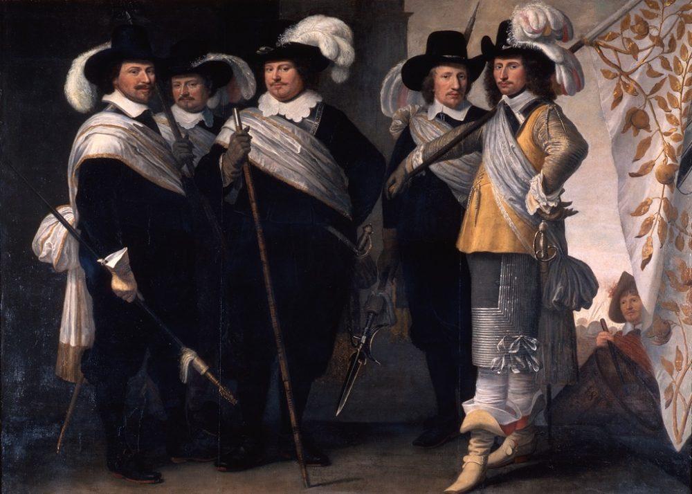 De officieren van het Witte Vendel, 1648 - Jacob Delff II