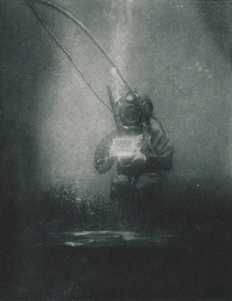 Deze onderwaterfoto maakte Louis Boutan in 1899 - cc