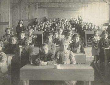Klaslokaal in Vluchtoord Gouda
