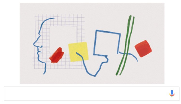 Roger Raveel, Google Doodle