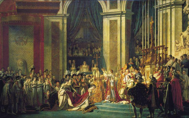 De kroning van Napoleon, schilderij door Jacques-Louis David