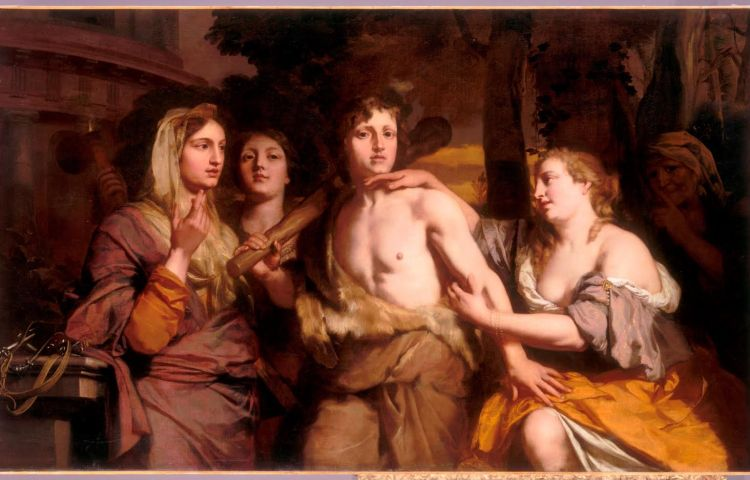 Gerard de Lairesse, Hercules kiest tussen deugd en ondeugd, ca. 1675-80, Musée du Louvre, Parijs