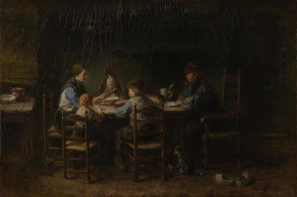 Het schilderij van Jozef Israëls waar Van Gogh zich door liet inspireren, 1882 (Van Gogh Museum)