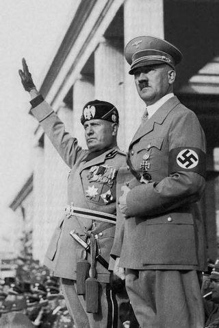 Hitler en Mussolini: partners in crime.